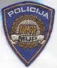 POLICE / POLIZEI - Croatia, Police Patch, 110x90mm - Ecussons Tissu
