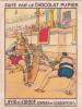 ITALIE Jeux Du Cirque Combat De Gladiateurs + Texte Au Dos Chromo Publicitaire  Chocolat Pupier Années 35/40 - Chocolat