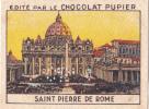 ITALIE SAINT PIERRE De ROME + Texte Au Dos Chromo Publicitaire  Chocolat Pupier Années 35/40 - Cioccolato