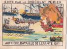 AUTRICHE Bataille De LEPANTE 1571 + Texte Au Dos Chromo Publicitaire  Chocolat Pupier Années 35/40 - Chocolat