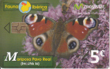 SPAIN - Butterfly, Movistar Telecard 5 Euro, 07/11, Used - Spain