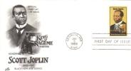 US  -  Legends Of Jazz  -   Scott Joplin  -   FDC  -  1er Jour - Musique