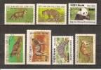 VIETNAM - LOT DE 7 TIMBRES OBLITERES - ANIMAUX - PANDA - ANIMALS - Viêt-Nam