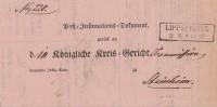 Preussen Post-Dokument Gel. Von R2 Lippspringe Am 3.9.1866 Nach Steinheim - Preussen