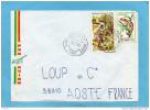 MARCOPHILIE-lettre-Congo- Cad- 1980 - 2stamps N°518 Chasseur +cameléon -pour Françe - Congo - Brazzaville
