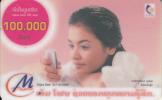 LAOS - Girl On Phone, Lao Telecom Prepaid Card 100000 Kip, Exp.date 31/12/05, Used - Laos