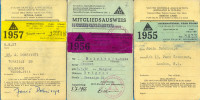 England. The Youth Hostels Asociation (two Cards) And Germany DJH (one Card) - Tickets - Vouchers