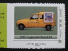2012_06. Collector La Poste Au Volant. Fourgonnette R4 1985. Adhésif Neuf [automobile Camion Transport] - France