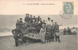 Cayeux-sur-mer Groupe De Baigneurs Dans Un Bateau Beau Plan 80 Somme - Cayeux Sur Mer