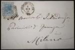 ANNULLI NUMERALI LOMBARDIA: NUMERALE CASSANO D'ADDA Milano 1 Gennaio 1872 Capodanno - 1861-78 Vittorio Emanuele II