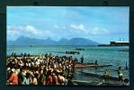 TAHITI  -  Pirogue Racing  Unused Postcard As Scan - Tahiti