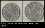 Jordan - 20 Fils - AH 1368 - 1949 - KM 5 - UNC - Agouz - Jordania