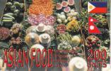 ISRAEL - Philippines, Asian Food Prepaid Card 200 Units, Exp.date 31/10/10, Used - Alimentación