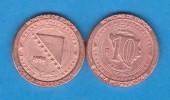 "BOSNIA-HERZEGOVINA 10 FENINGA 1.998 Cobre KM#115 Colección ""MONEDAS DE EUROPA""  SC/UNC  Réplica  T-DL-11.485 - Bosnia And Herzegovina"