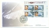 1998 Canada William J. Roue 45c Plate Block First Day Cover - First Day Covers