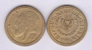 "CHIPRE  20 Céntimos 1.994 KM#62.2 Colección ""MONEDAS DE EUROPA""  SC/UNC  Réplica  T-DL-11.487 - Chypre"