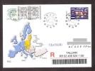 United Europa 2004 Estonia Stamp With Label Estonia  FDC Mi 487 REGISTERED - Estonie