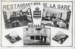 Restaurant-Bar De La Gare - Chez Justin - Monaco - Multivues - Edition E.P.I. - Carte Non Circulée - Restaurants