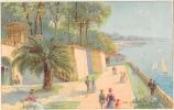 """Publicité San Salvadour - L'Eau Minérale Naturelle De Hyères - Illustration """"Les Sources"""" - Carte Non Circulée - Reclame"""