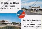 CPSM 30 Bellegarde Le Relais De L Oasis Les Routiers Bar Hôtel Restaurant Station Service ESSO - Bellegarde