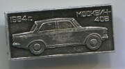 MOSKVICH 408 - Car Limousine, Russian Auto Industry, Soviet Union, Vintage Pin Badge, D 35 X 15  Mm - Pin's