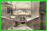 DEUX C.P.A.Crue De La Seine.Rue Du Château.Passage De La Réunion Rue De Bécons(rectos Versos) - Asnieres Sur Seine