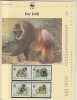 Cameroun 1988  WWF /   Drill - Baboons   4v ** Mnh With 3 Leaflets With Information About The Issue (W573) - W.W.F.