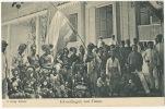 Timor  Inboorlingen Van Timor Edit R. Brings Makassar Natives With Flag - Timor Orientale