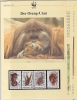 Indonesia 1989   WWF /  Monkeys - Orag-Utan 4v ** Mnh With 3 Leaflets With Information About The Issue (W580) - W.W.F.