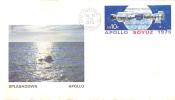 Cover Apollo Soyuz Splashdown Space Rocket - Lettres & Documents
