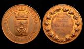 Médaille Ville De Nancy. Conservatoire National De Musique, 2°Prix. Orgue. Attribuée. Bronze - Otros