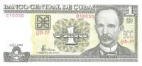 Cuba - Pick 121b - 1 Peso 2002 - Unc - Cuba