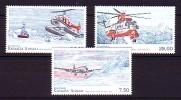 2012 groenland neuf ** n� 598/600 transport : avion : h�licopt�re : douglas : sikorsky : bell
