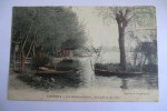 CPA 78 CROISSY SUR SEINE. La Grenouillère, Vue Prise De L île. 1906. - Croissy-sur-Seine