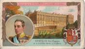 CHROMO CHOCOLAT D'AIGUEBELLE ALPHONSE III ROI D'ESPAGNE ET LE CHATEAU ROYAL DE MADRID - Aiguebelle