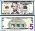 """STATI UNITI 2013 - 5 Dollari - """"Lincoln Nuovo Tipo""""  Banconota In Condizioni FDS - Billetes De La Reserva Federal (1928-...)"""