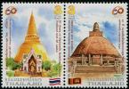 THAÏLANDE 2015 - 60e Ann Des Relations Avec Le Sri Lanka - 2 Val Neufs // Mnh - Thailand