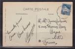 = Carte Postale D'Algérie à France Seine Et Oise 29.12.29 N°47; Carte De Tiout, Sud Oranais La Grande Porte - Covers & Documents
