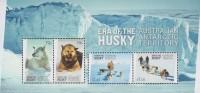 Antarctic.Australisch Antarctic Territory.2014.Sheet.4v.Dogs.MNH.22284 - Australisch Antarctisch Territorium (AAT)