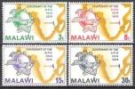 Malawi 1974 Organisationen Postgeschichte Weltpostverein UPU Hermes Merkur Landkarten, Mi. 216-9 ** - Malawi (1964-...)
