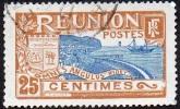 Réunion Obl. N°  88 - Vue -> Rade De Saint Denis - 25 C Brun Jaune Et Bleu - Réunion (1852-1975)