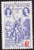 Réunion Obl. N° 183 - Rattachement à La France 4Frs Outremer Et Rouge - Réunion (1852-1975)