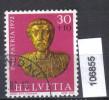Schweiz, Zst. PP 156, Mi. 973 O Goldbüste Marc Aurel - Archeologia