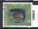 Schweiz, Zst. PP 162, Mi. 1031 O Farbiges Glas - Archeologia