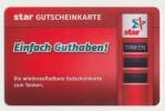 Star Gutscheinkarte  - Geschenkkarte/Giftcard  -   Gebraucht / Leer  !!!!! ( 462 ) - Gift Cards