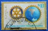 CHILE 10 $ 1980 ROTARY INTERNATIONAL  - USED - Chile