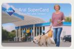 Aral SuperCard - Ohne Wertaufdruck - Motiv : Frau Mit Hund  - Geschenkkarte/Giftcard  -   Gebraucht / Leer  !!!!! ( 472) - Gift Cards