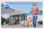 Aral SuperCard - 5 € - Motiv : Frau Mit Hund  - Geschenkkarte/Giftcard  -   Gebraucht / Leer  !!!!! ( 473 ) - Gift Cards