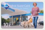 Aral SuperCard - 10 € - Motiv : Frau Mit Hund  - Geschenkkarte/Giftcard  -   Gebraucht / Leer  !!!!! ( 474 ) - Gift Cards