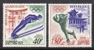 GABON - 1972 WINTER OLYMPICS SAPPORO SET (2V) SG 440-441 FINE MNH ** - Gabon